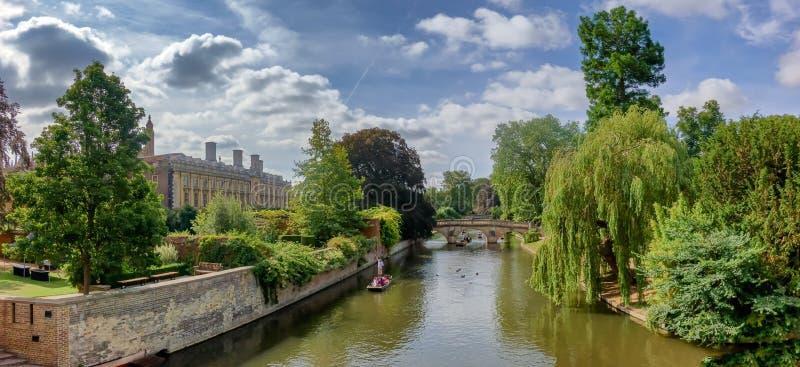 Wykop z ręki na rzeczny krzywka w Cambridge zdjęcia royalty free