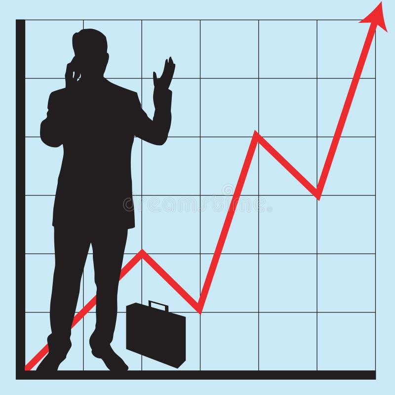 wykorzystanie wykresów przedsiębiorstw ilustracja wektor