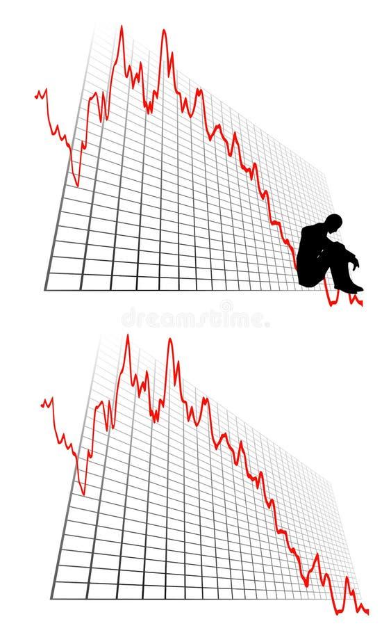 wykresów straty zysków przedsiębiorstw royalty ilustracja