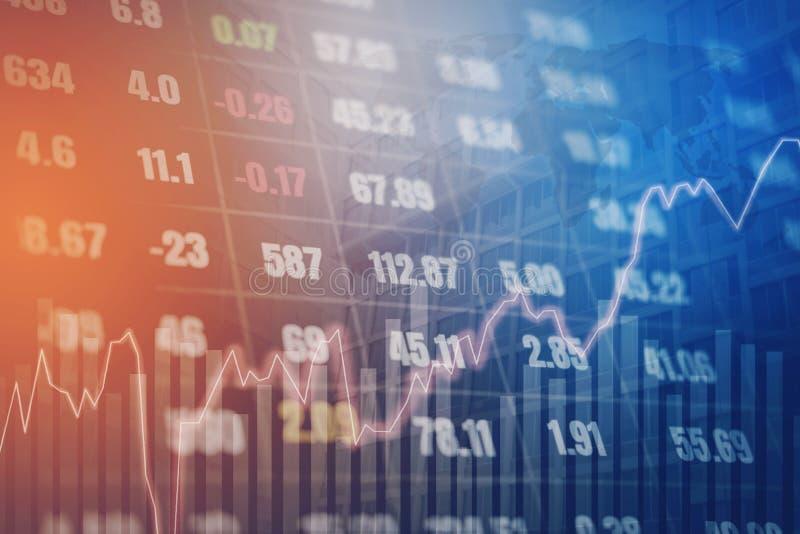 Wykres bankowość na cyfrowego rynku papierów wartościowych pieniężnym exch i finanse zdjęcie stock