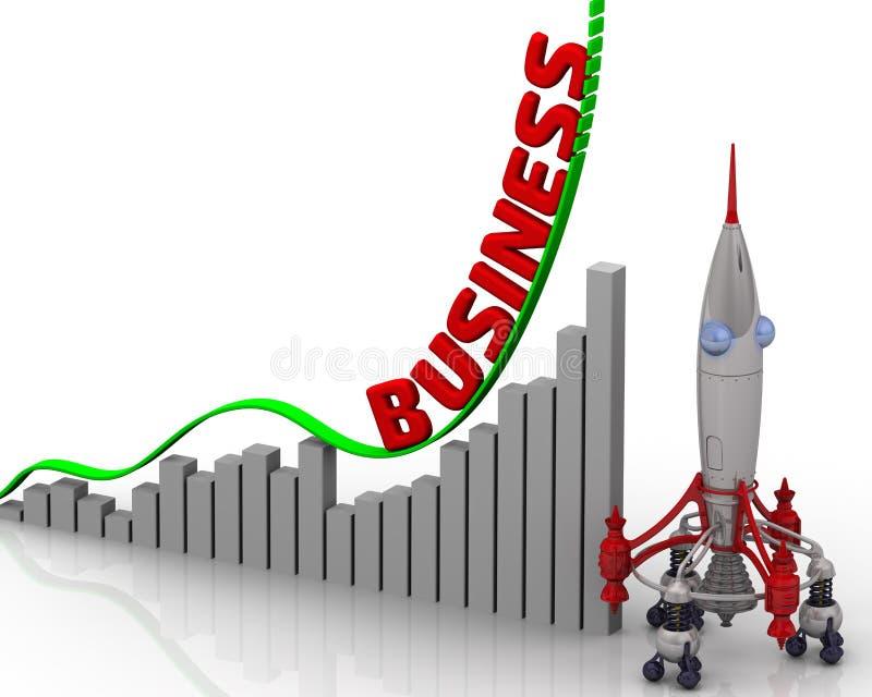 Wykres biznesowy przyrost ilustracji