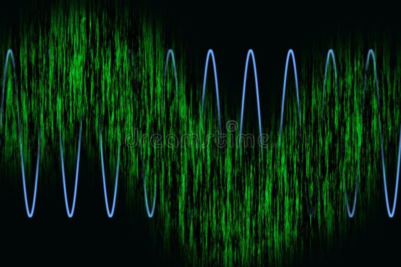 wykres fal harmoniczne ilustracja wektor
