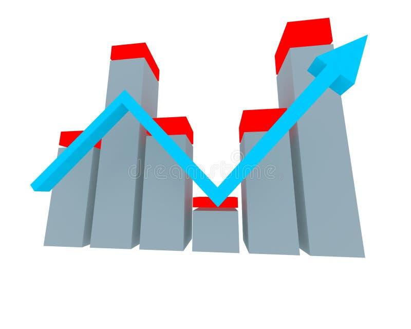 wykres finansów ilustracja wektor