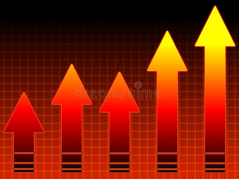 wykres gorące sprzedaży ilustracji