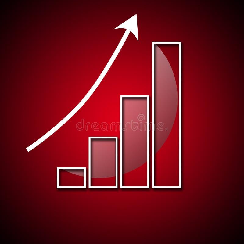Wykres gwałtowny rozwój w wartości zdjęcie royalty free