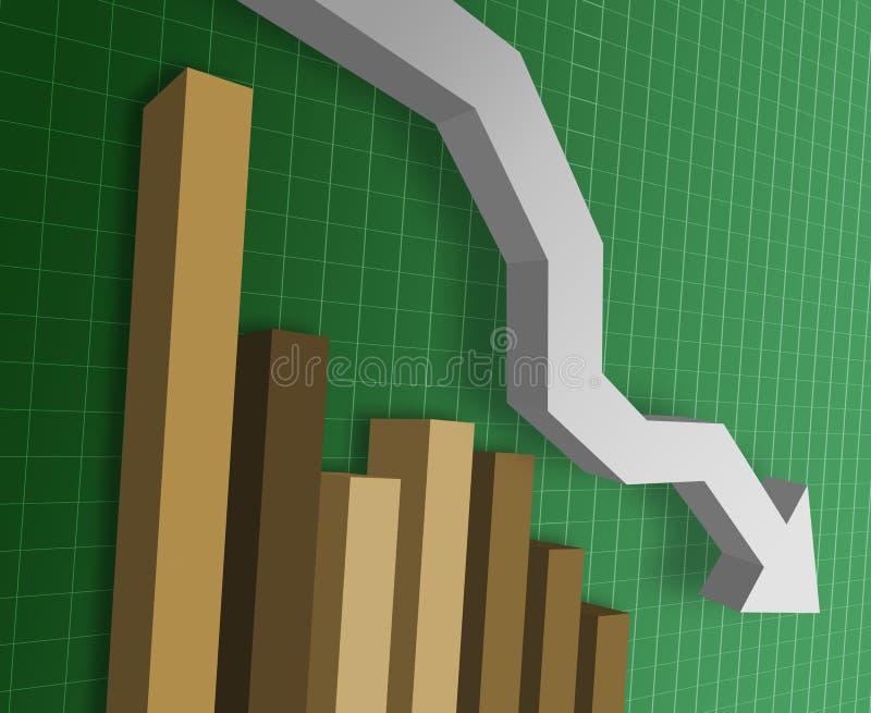 wykres handlowa ilustracji