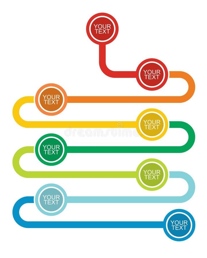 Wykres i spływowy diagram ilustracja wektor