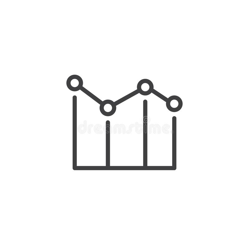 Wykres mapy konturu ikona ilustracji