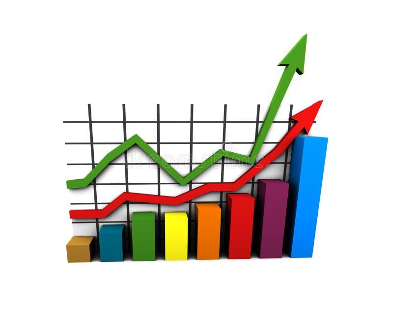 wykres multicolor statystyki ilustracji