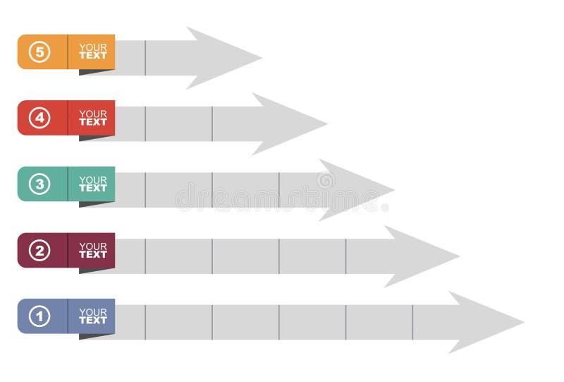 Wykres rozwój ilustracja wektor
