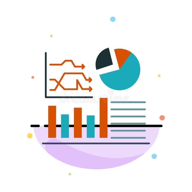 Wykres, sukces, Flowchart, Biznesowy Abstrakcjonistyczny Płaski kolor ikony szablon royalty ilustracja