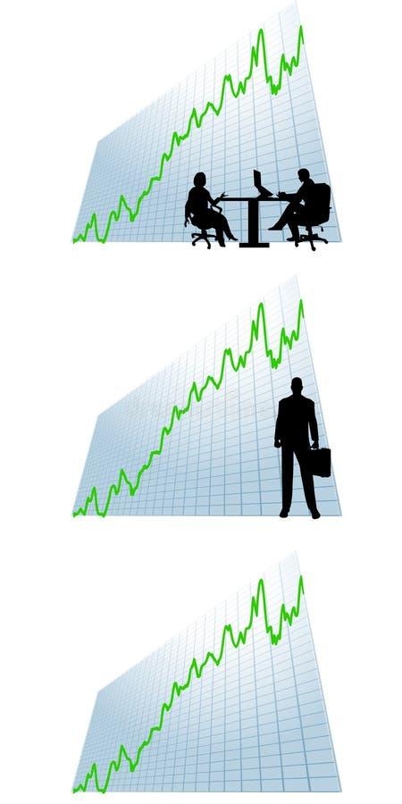 wykres zyski przedsiębiorstw do map ilustracja wektor
