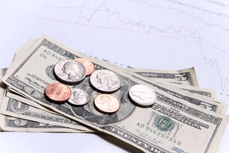 wykresu finansowego pieniądze obraz royalty free