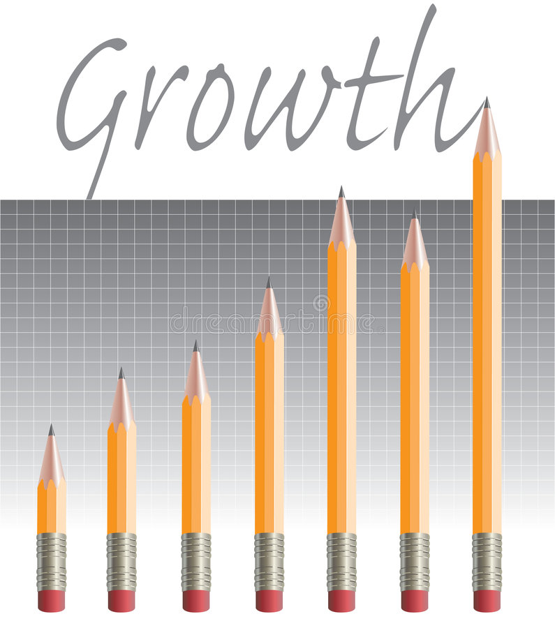 wykresu jpg ołówek ilustracja wektor