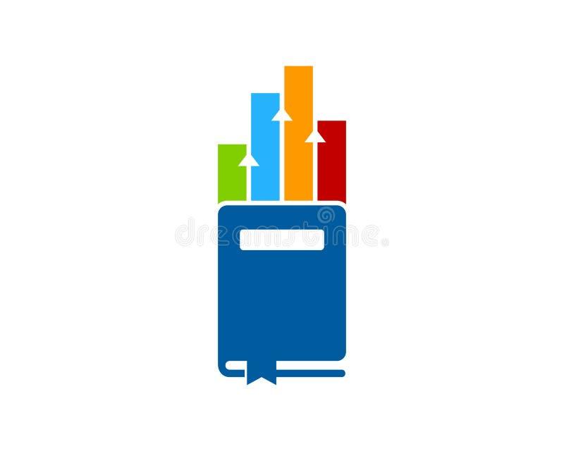 Wykresu loga ikony Książkowy projekt ilustracja wektor