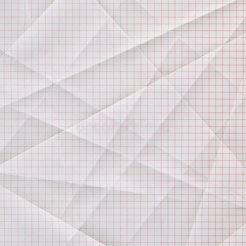 wykresu marszczący fałdowy papier obraz stock