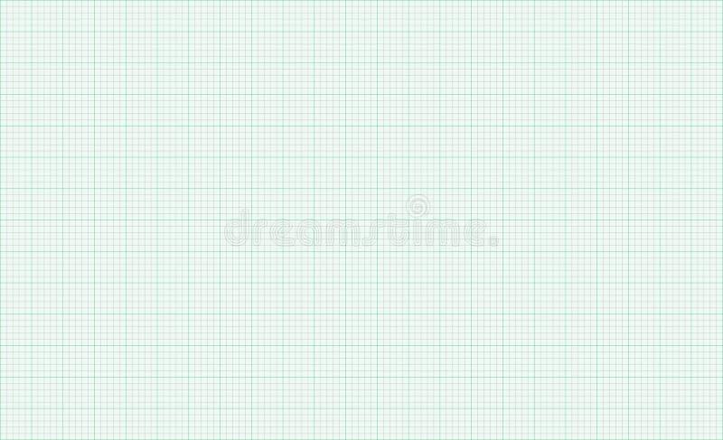 Wykresu papieru zieleni tła siatki linie royalty ilustracja