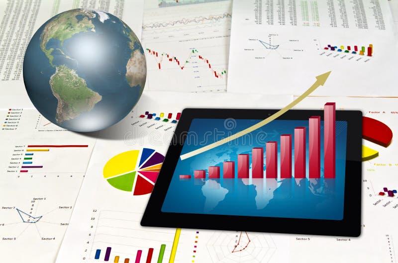 wykresu pieniężny touchpad ilustracji