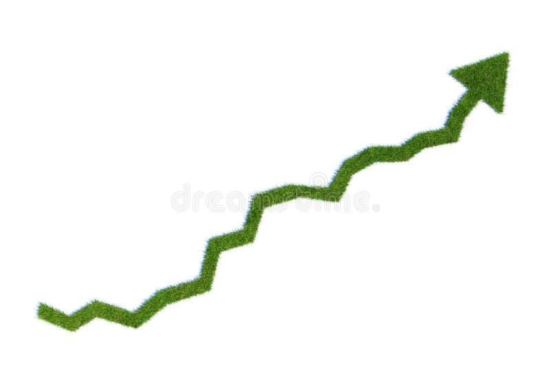 wykresu trawy dorośnięcie ilustracja wektor