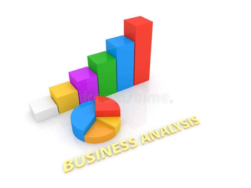 Wykresy i inskrypcja biznesowy analityk na białym tle royalty ilustracja