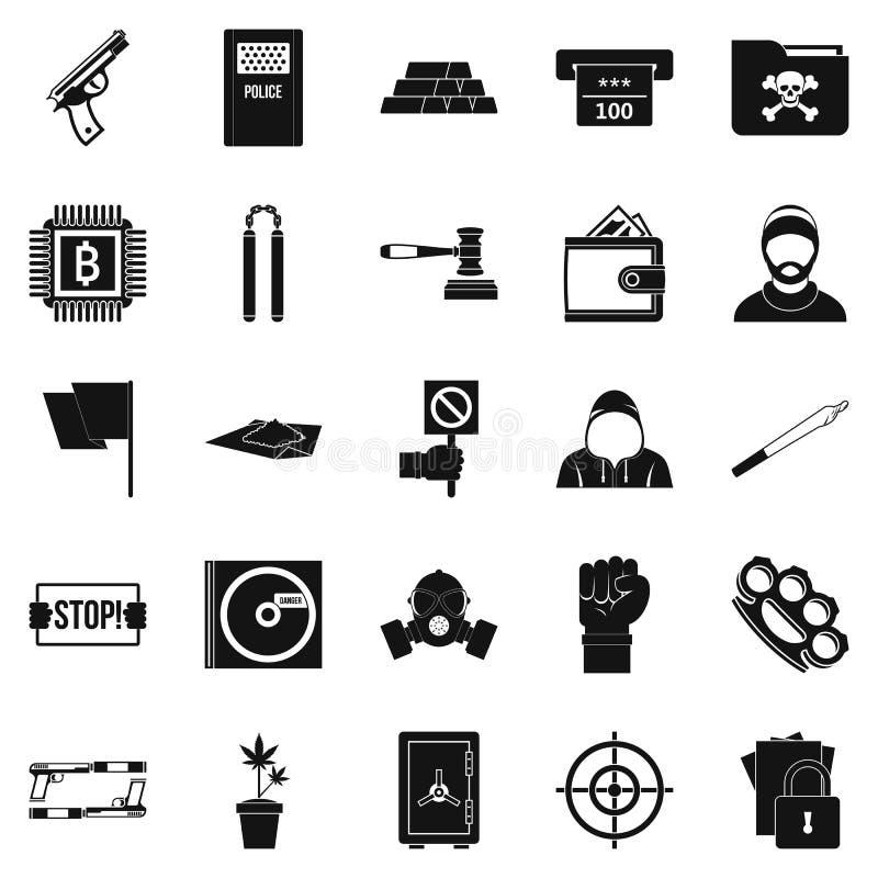 Wykroczenie ikony ustawiać, prosty styl ilustracji