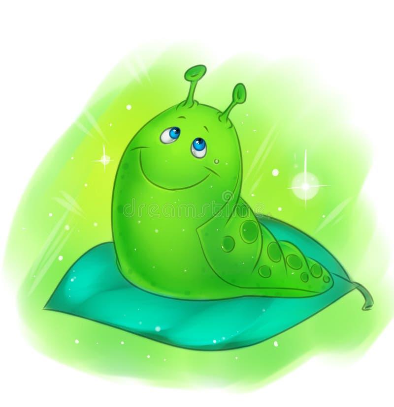 Wymarzona gąsienica ilustracja wektor