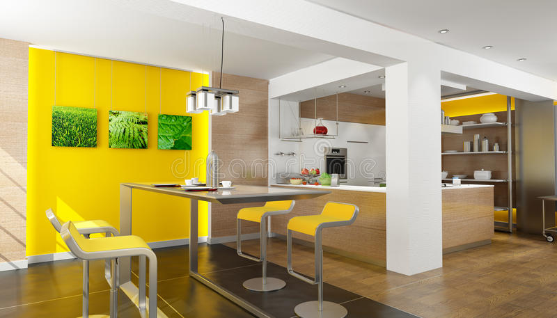 Download Wymarzona kuchnia ilustracji. Ilustracja złożonej z wnętrze - 13332601