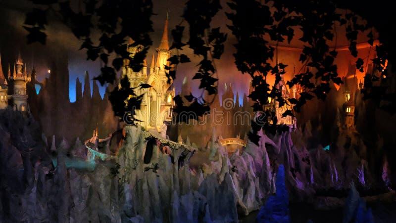 Wymarzona lot przeja?d?ka przy parkiem tematycznym Efteling, Kaatsheuvel holandie miniaturowy bajka las obrazy royalty free