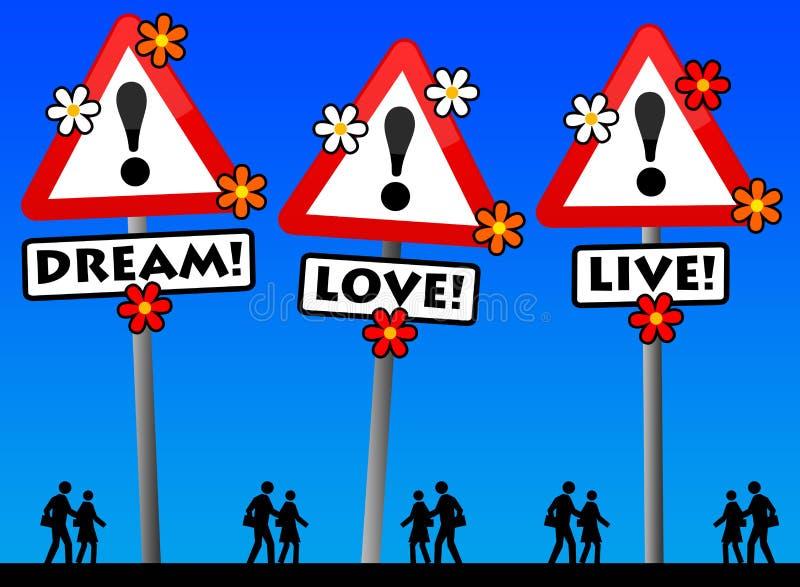 Wymarzona miłość żywa ilustracji