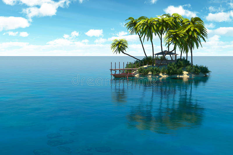 Wymarzona wyspa royalty ilustracja