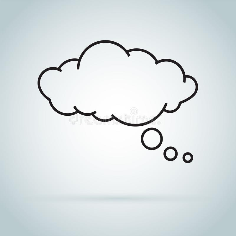 Wymarzonej chmury odosobniona ikona Mowa bąbel odizolowywający na tle marzyć ikonę royalty ilustracja