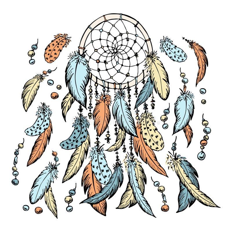 Wymarzony łapacza nakreślenie szczotkarski węgiel drzewny rysunek rysujący ręki ilustracyjny ilustrator jak spojrzenie robi paste ilustracja wektor