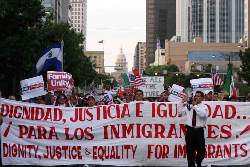 Wymarzony akt imigraci wiec w Austin Teksas 2009 fotografia royalty free