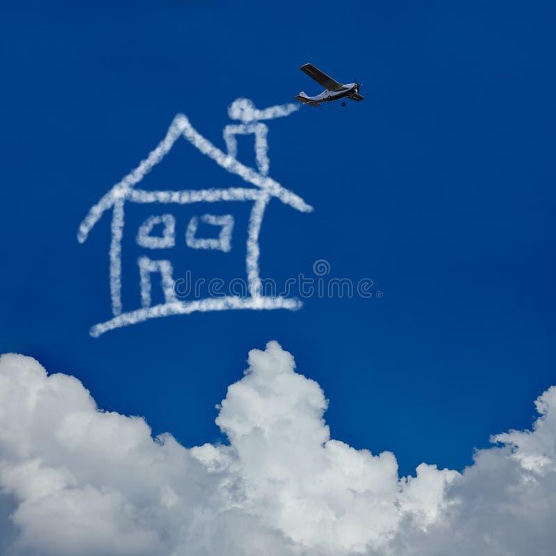 Wymarzony dom w niebie ilustracji