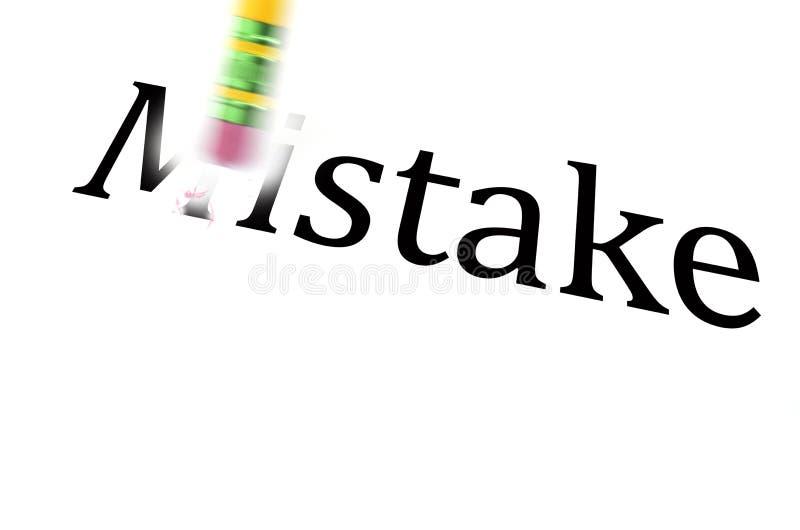 Wymazujący błąd Zostać Lepiej Od życia zdjęcie stock