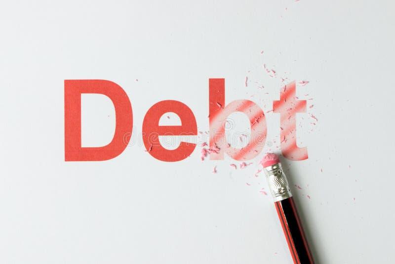 Wymazujący dług lub kasujący zdjęcie royalty free