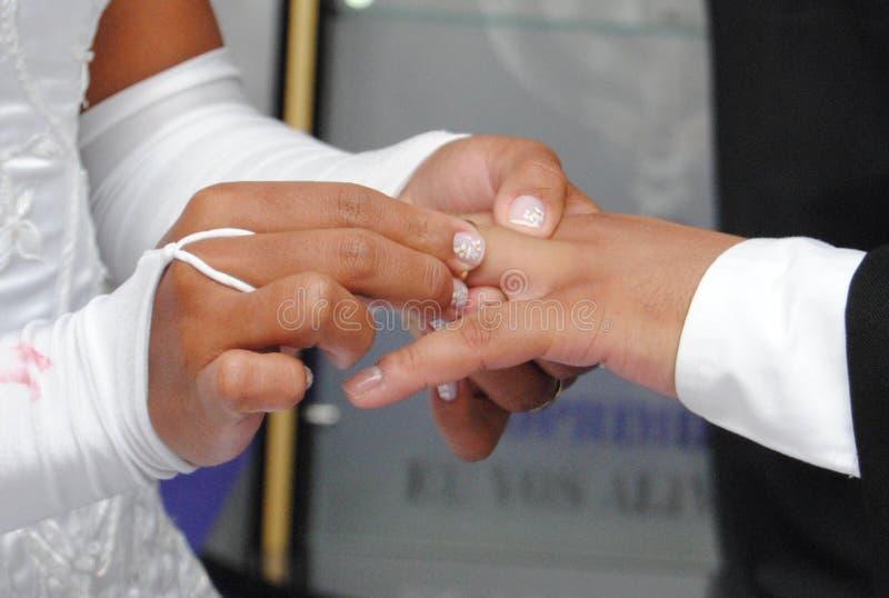 Wymiana pierścionki zdjęcie stock