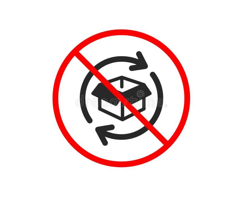 Wymiana towarowa ikona Powrotny pakuneczka znak wektor royalty ilustracja