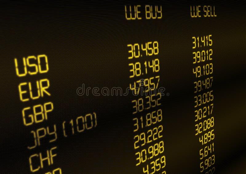 wymiana walut tempo ilustracja wektor