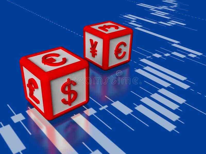 Wymiany walut pojęcia 3d wizerunek royalty ilustracja