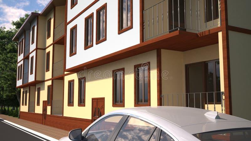 Wymieniony budynek w Turcja part3 frontowej stronie fotografia stock