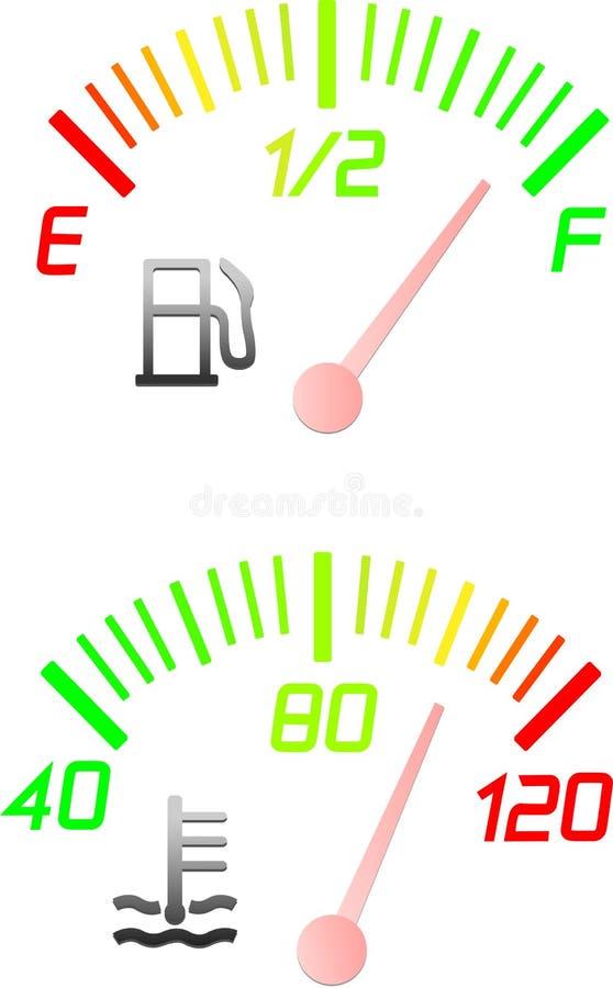 wymierników instrumentu pojazd ilustracji