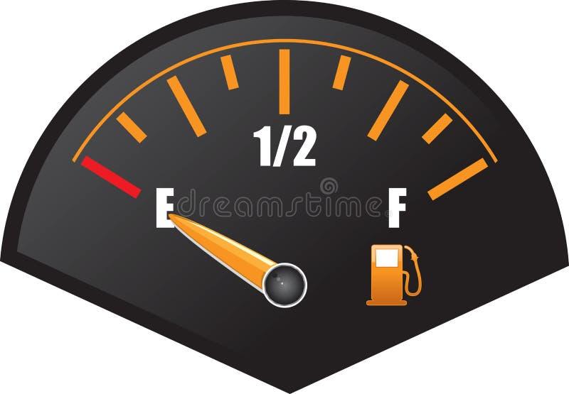 wymiernik benzyna royalty ilustracja