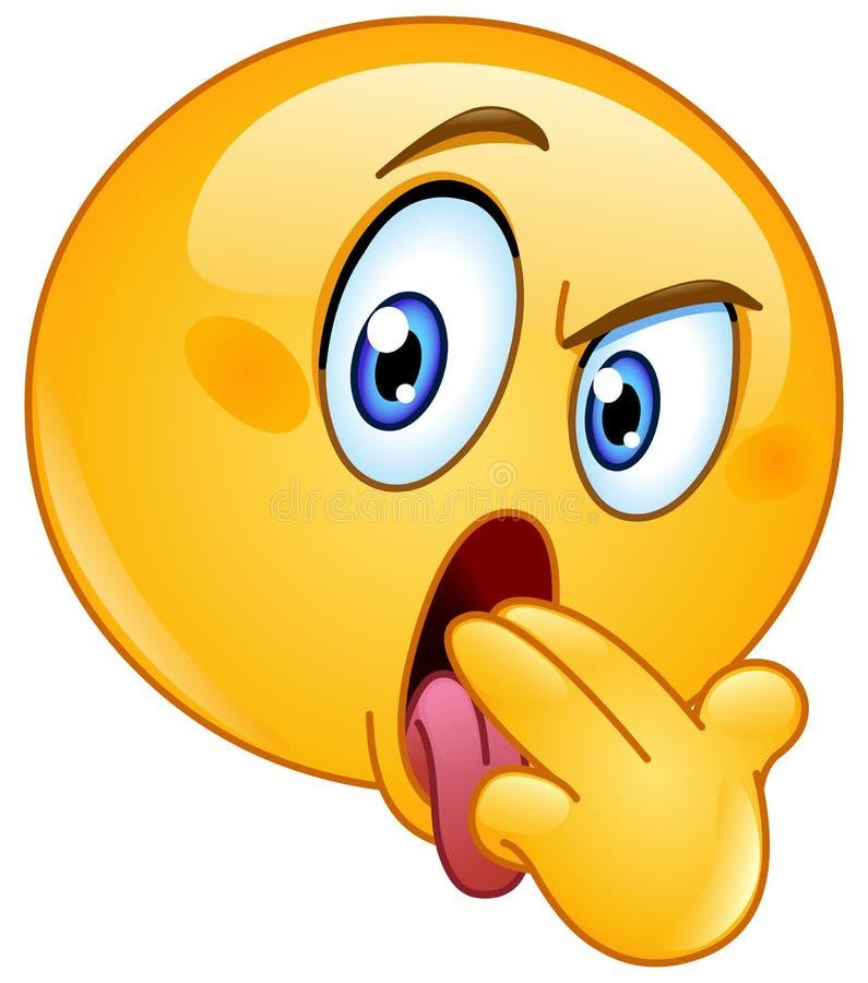 Wymiociny gesta emoticon ilustracji