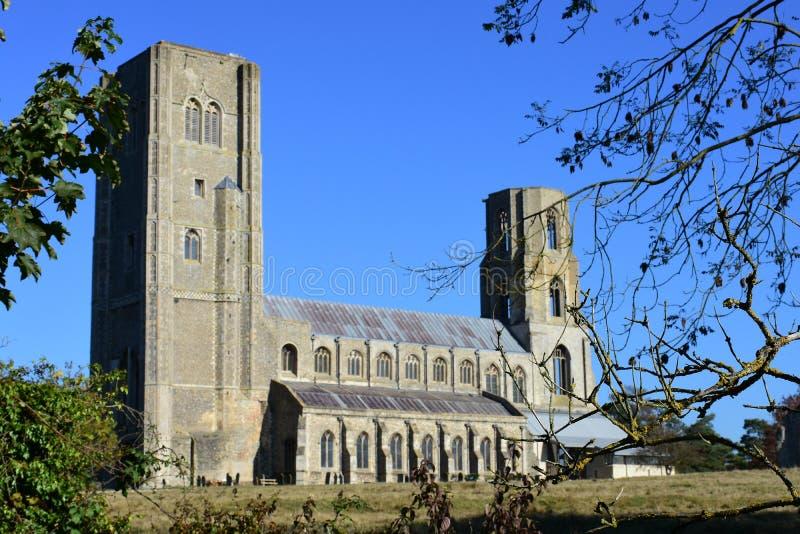 Wymondham abbotskloster, Norfolk, England royaltyfria bilder