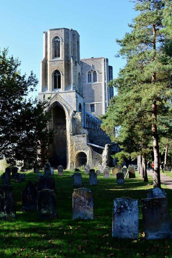 Wymondham abbotskloster, Norfolk, England royaltyfri bild