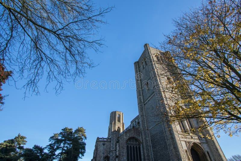 Wymondham-Abtei Englisches mittelalterliches religiöses Gebäude eindrucksvoll lizenzfreies stockfoto