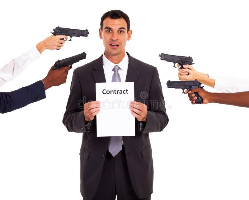 Wymuszony kontrakt obraz stock