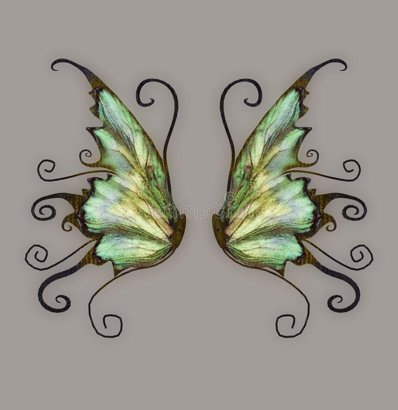 wymyślnych skrzydła ilustracji