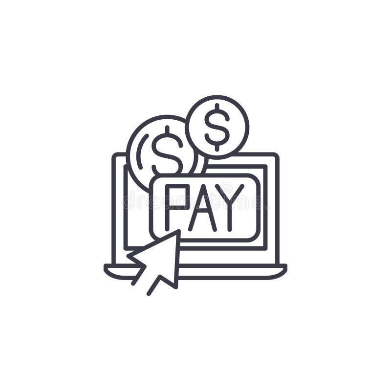 Wynagrodzenie na stuknięcie ikony liniowego pojęcie Wynagrodzenie na stuknięcie linii wektoru znaka, symbol, ilustracja ilustracji